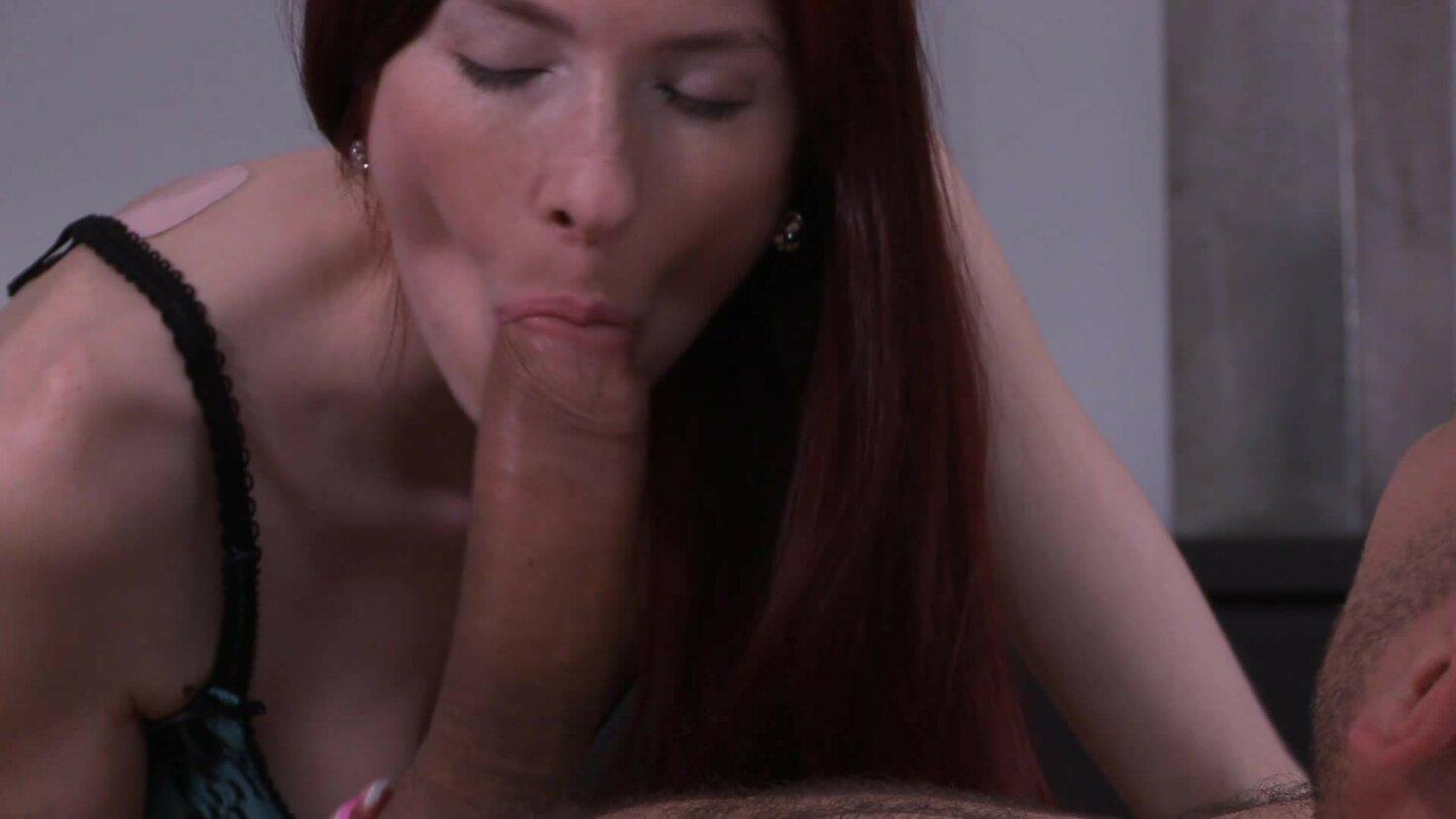 Sexy Czech brunette Kattie Gold gets cum covered in hot bedroom fuck