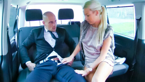 Lusty blonde Czech babe gets cum covered during hot sex in the car