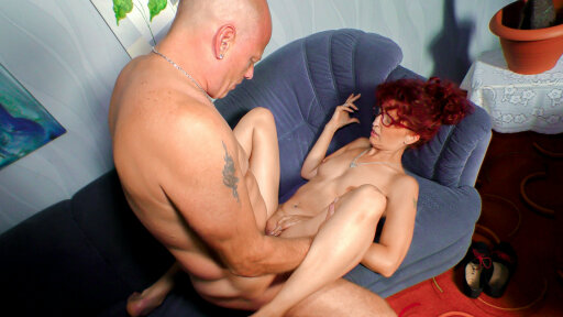 Wild German pickup and fuck with amateur redhead Evelyn S.