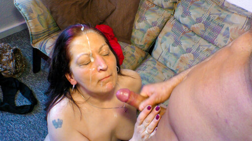 German BBW Heike W. takes a hard dick up her granny pussy