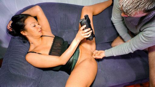 German brunette babe is an amateur who fucks her partner on cam