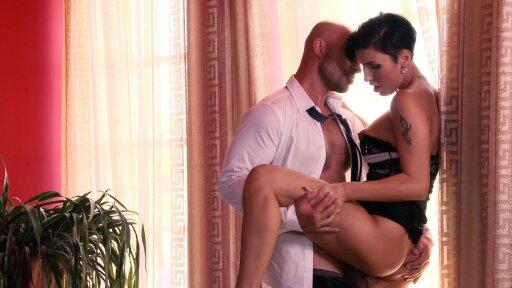 Busty Czech babe Gabriella Gucci gets cum on pussy in sensual fuck